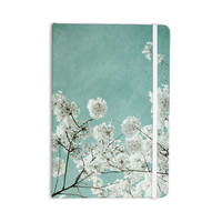"Iris Lehnhardt ""Flowering Season"" Teal White Everything Notebook"