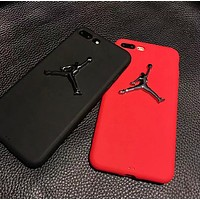 NIKE Jordan Fashion New Metal People Silicone Women Men Phone Case Protective Case