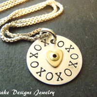 sterling silver xo necklace hugs and kisses xoxo necklace