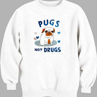 Pugs Not Drugs Sweater for Mens Sweater and Womens Sweater ***