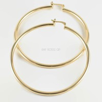 Tubes 70mm 18kts of gold plated Earrings hoops