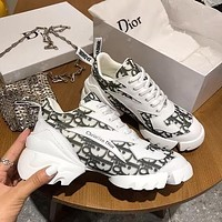 DIOR D-CONNECT SNEAKER WHITE BLACK PRINT SHOES