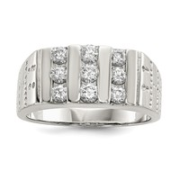 Sterling Silver Men's CZ Ring QR1285