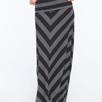 Fox Mad Cool Maxi Skirt Charcoal/Black  In Sizes