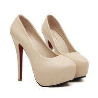 MagicPieces Women's PU High Heeled with Bowtie Detail 040753 HSDP0516