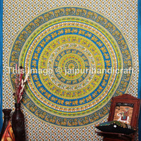Bohemian Mandala Tapestries, Elephants Mandala, Hippie Hippy Wall Hanging, Etchnic Decor art, Large Wall Hanging, Throw Indian Mandala Sheet