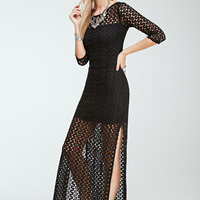 Longline Crochet Overlay Dress