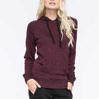 Full Tilt Essential Marled Womens Pullover Hoodie Wine  In Sizes