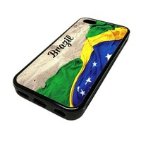 For Apple iPhone 5C 5 C Case Cover Skin Hipster Brazil Flag Beach City Travel Quotes Teen DESIGN BLACK RUBBER SILICONE Teen Gift Vintage Hipster Fashion Design Art Print Cell Phone Accessories