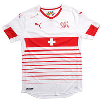 Suisse Away Replica Soccer Jersey White