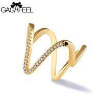 Unique V Letter Ring Jewelry For Women