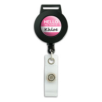 Khloe Hello My Name Is Retractable Badge Card ID Holder