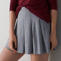 AEO Pleated Circle Skirt, Grey | American Eagle Outfitters