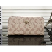 Coach fashion casual wild long multi-layered wallet clutch