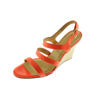 Kate Spade Womens Cindy Patent Strappy Wedges