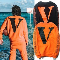 Off White x VLONE Round Neck Sweater M---XXL