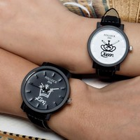 Trendy Awesome Gift Great Deal New Arrival Good Price Designer's Fashion Stylish Korean Couple Watch [6050485441]