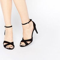 New Look Cross Front Heeled Sandal