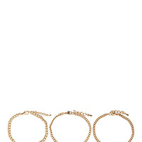 FOREVER 21 Infinity Bracelet Set Gold/Clear One
