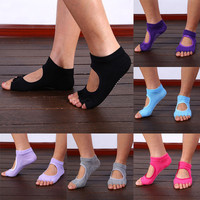 High Quality Finger 5 Toes Cotton Breathable Ankle Women Sock Non-Slip Exercise