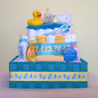 Premium Rubber Ducky Custom Diaper Cake by RSBabyBoutique on Etsy