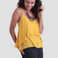 Soleil Tiered Tank In Yellow
