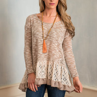Girly Inspirations Top, Mocha