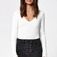 Kendall & Kylie Lace-Up Denim Skirt at PacSun.com