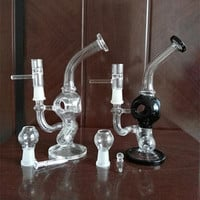 Two function bong recycler oil rigs water pipes glass recycler glasspipes bowls