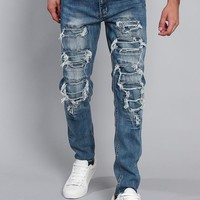 Distressed Denim Jeans