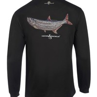 Men's Tarpon Embroidery L/S UV Fishing T-Shirt