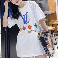 Louis Vuitton New printed letter couple casual top T-shirt