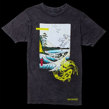 Altru Apparel Hiroshige Mt. Fuji vintage washed graphic tee