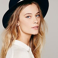 Hat Attack Womens Leather Banded Floppy Hat - Navy One
