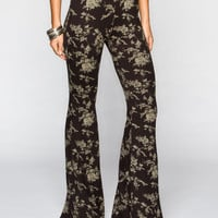 Lira Colonia Womens Bell Pants Black/Grey  In Sizes