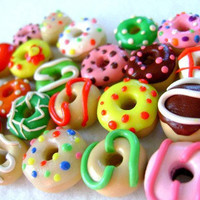 Assorted Miniature Polymer Clay Donuts