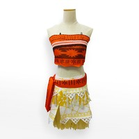 movie moana cosplay costume Children Halloween Cosplay for kids moana wig Princess dress girl carnival adult costumes