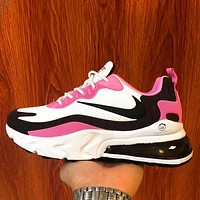elainse29 Nike air max 270 Breathable casual running sneakers barb White Pink