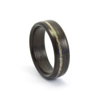 Bentwood Wedding Ring for Men, Rosewood and Concrete Wood Ring