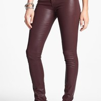 Articles of Society 'Mya' Coated Skinny Jeans (Ox Blood) (Juniors) (Online Only) | Nordstrom