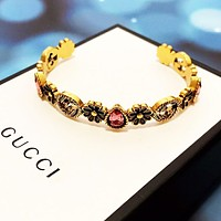 GUCCI Hot Sale Retro Woman Colorful Diamond Bracelet Accessories Jewelry