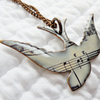 Music - Song Bird and Musical Notes - Cream -