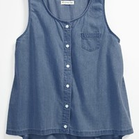 Tucker + Tate 'Jennifer' Denim Tank Top (Big Girls)