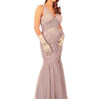 Silver Evening Dresses-Mermaid Prom Gowns