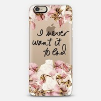 Never Ending Sweet Peas iPhone 6 case by 3 Red Threads   Casetify