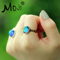 Antique Bronze Plated Color Changing Mood Rings Changing Color Temperature Emotion Feeling Rings Set