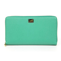 Dolce & Gabbana ladies green leather wallet