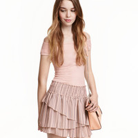H&M Tiered Chiffon Skirt $19.99