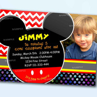 Mickey Mouse the beautiful personalized birthday invitation card as a digital file