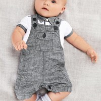 Baby boy clothing set Gentleman newborn clothes set for boys high quality cotton T-shirt + Overalls baby  suit